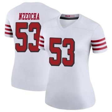 Women's Nike San Francisco 49ers Mark Nzeocha White Color Rush Jersey - Legend