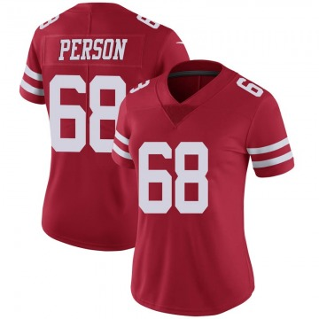 Women's Nike San Francisco 49ers Mike Person Scarlet 100th Vapor Jersey - Limited