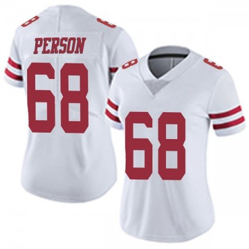 Women's Nike San Francisco 49ers Mike Person White Vapor Untouchable Jersey - Limited
