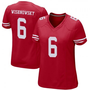 Women's Nike San Francisco 49ers Mitch Wishnowsky Red Team Color Jersey - Game