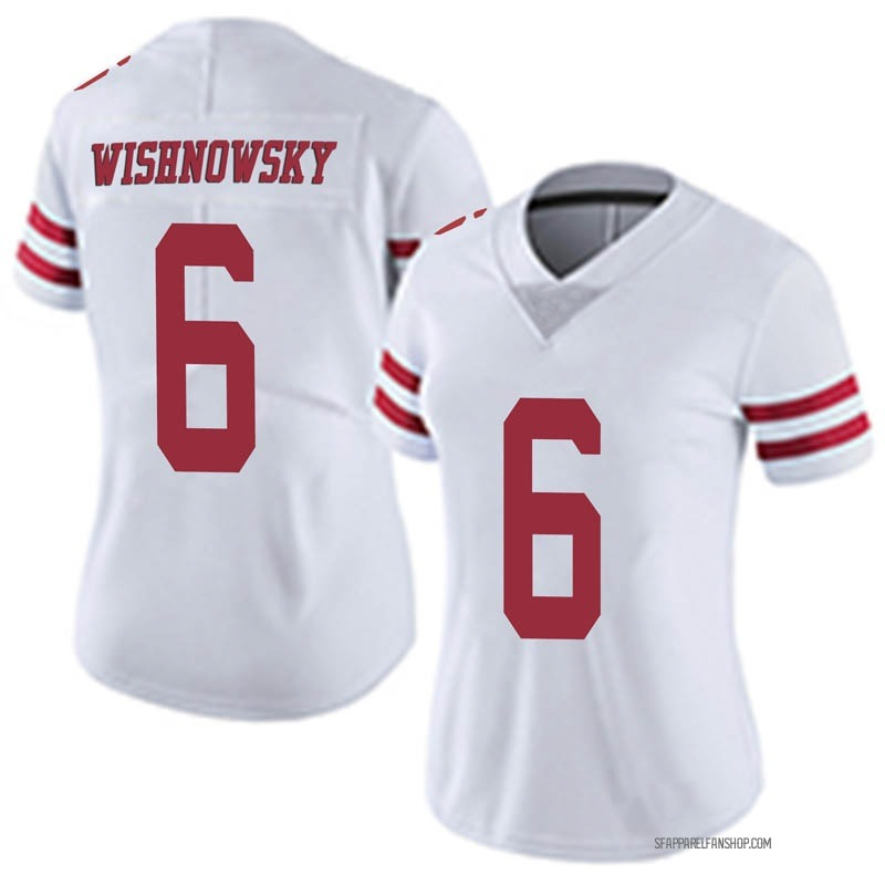 newest 06719 20cd5 Women's Nike San Francisco 49ers Mitch Wishnowsky White Vapor Untouchable  Jersey - Limited