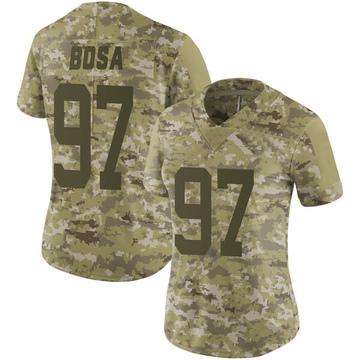 Women's Nike San Francisco 49ers Nick Bosa Camo 2018 Salute to Service Jersey - Limited