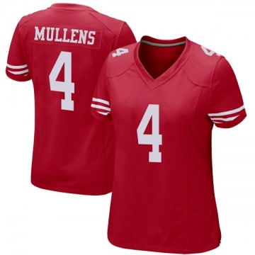 Women's Nike San Francisco 49ers Nick Mullens Red Team Color Jersey - Game