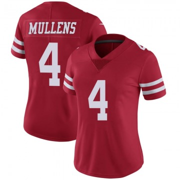 Women's Nike San Francisco 49ers Nick Mullens Scarlet 100th Vapor Jersey - Limited