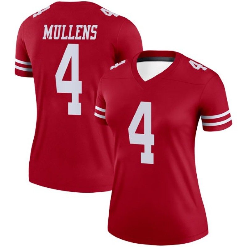 size 40 214d5 94b51 Women's Nike San Francisco 49ers Nick Mullens Scarlet Jersey - Legend