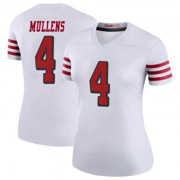 Women's Nike San Francisco 49ers Nick Mullens White Color Rush Jersey - Legend