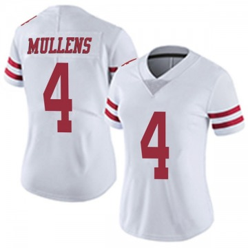 Women's Nike San Francisco 49ers Nick Mullens White Vapor Untouchable Jersey - Limited