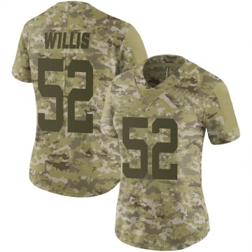 Women's Nike San Francisco 49ers Patrick Willis Camo 2018 Salute to Service Jersey - Limited