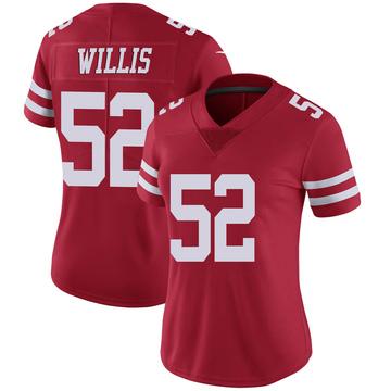 Women's Nike San Francisco 49ers Patrick Willis Scarlet 100th Vapor Jersey - Limited