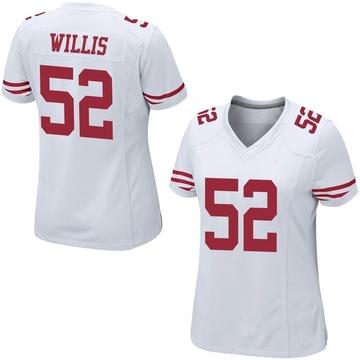 Women's Nike San Francisco 49ers Patrick Willis White Jersey - Game