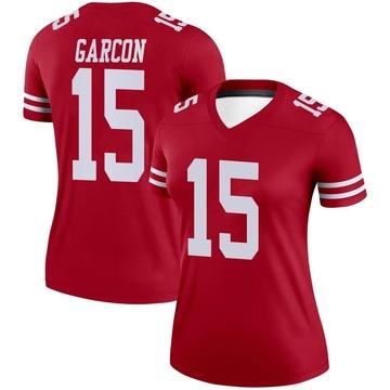 Women's Nike San Francisco 49ers Pierre Garcon Scarlet Jersey - Legend