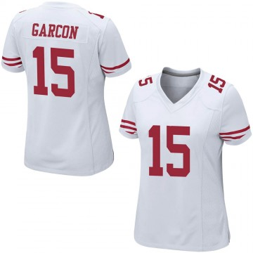 Women's Nike San Francisco 49ers Pierre Garcon White Jersey - Game