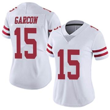 Women's Nike San Francisco 49ers Pierre Garcon White Vapor Untouchable Jersey - Limited