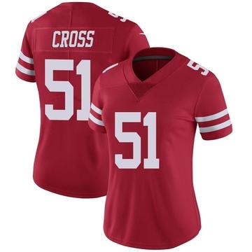 Women's Nike San Francisco 49ers Randy Cross Red Team Color Vapor Untouchable Jersey - Limited