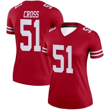 Women's Nike San Francisco 49ers Randy Cross Scarlet Jersey - Legend
