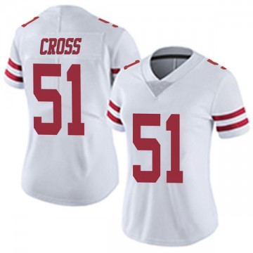 Women's Nike San Francisco 49ers Randy Cross White Vapor Untouchable Jersey - Limited