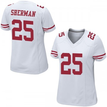 Women's Nike San Francisco 49ers Richard Sherman White Jersey - Game