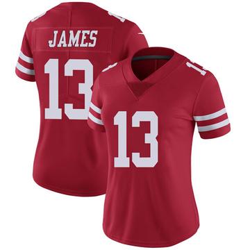 Women's Nike San Francisco 49ers Richie James Red Team Color Vapor Untouchable Jersey - Limited