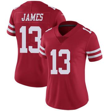 Women's Nike San Francisco 49ers Richie James Scarlet 100th Vapor Jersey - Limited