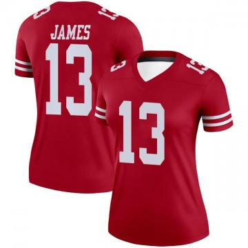 Women's Nike San Francisco 49ers Richie James Scarlet Jersey - Legend