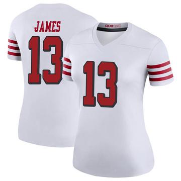 Women's Nike San Francisco 49ers Richie James White Color Rush Jersey - Legend