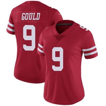 Women's Nike San Francisco 49ers Robbie Gould Scarlet 100th Vapor Jersey - Limited