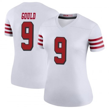 Women's Nike San Francisco 49ers Robbie Gould White Color Rush Jersey - Legend