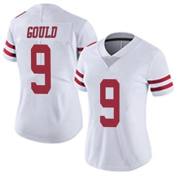 Women's Nike San Francisco 49ers Robbie Gould White Vapor Untouchable Jersey - Limited