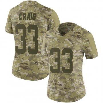 Women's Nike San Francisco 49ers Roger Craig Camo 2018 Salute to Service Jersey - Limited