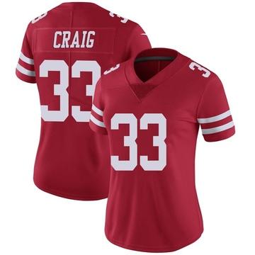 Women's Nike San Francisco 49ers Roger Craig Red Team Color Vapor Untouchable Jersey - Limited