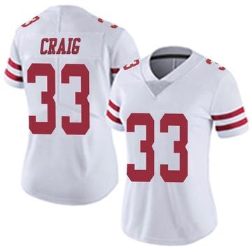 Women's Nike San Francisco 49ers Roger Craig White Vapor Untouchable Jersey - Limited