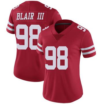 Women's Nike San Francisco 49ers Ronald Blair III Scarlet 100th Vapor Jersey - Limited