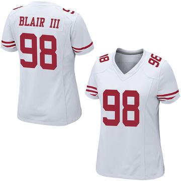 Women's Nike San Francisco 49ers Ronald Blair III White Jersey - Game