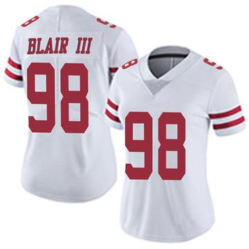 Women's Nike San Francisco 49ers Ronald Blair III White Vapor Untouchable Jersey - Limited