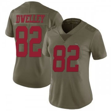 Women's Nike San Francisco 49ers Ross Dwelley Green 2017 Salute to Service Jersey - Limited