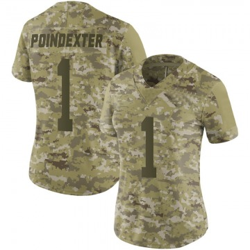 Women's Nike San Francisco 49ers Shawn Poindexter Camo 2018 Salute to Service Jersey - Limited