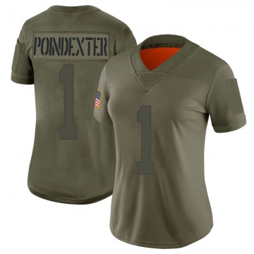 Women's Nike San Francisco 49ers Shawn Poindexter Camo 2019 Salute to Service Jersey - Limited