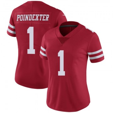 Women's Nike San Francisco 49ers Shawn Poindexter Scarlet 100th Vapor Jersey - Limited