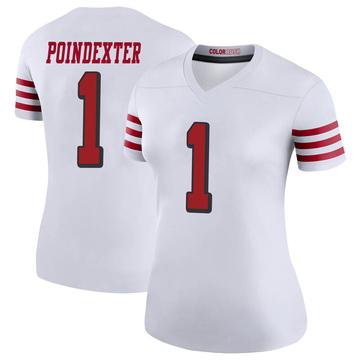 Women's Nike San Francisco 49ers Shawn Poindexter White Color Rush Jersey - Legend