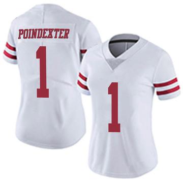 Women's Nike San Francisco 49ers Shawn Poindexter White Vapor Untouchable Jersey - Limited