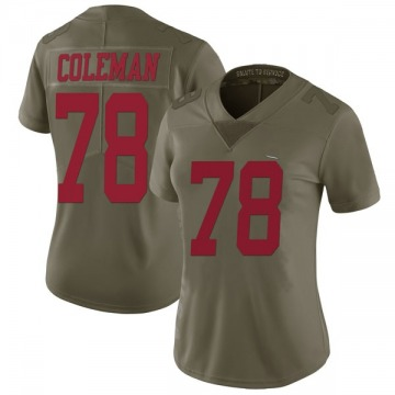 Women's Nike San Francisco 49ers Shon Coleman Green 2017 Salute to Service Jersey - Limited