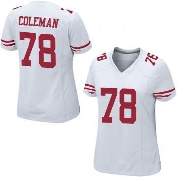 Women's Nike San Francisco 49ers Shon Coleman White Jersey - Game