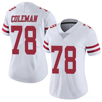 Women's Nike San Francisco 49ers Shon Coleman White Vapor Untouchable Jersey - Limited