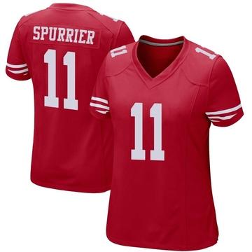 Women's Nike San Francisco 49ers Steve Spurrier Red Team Color Jersey - Game