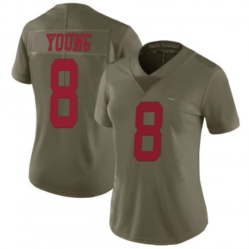 Women's Nike San Francisco 49ers Steve Young Green 2017 Salute to Service Jersey - Limited