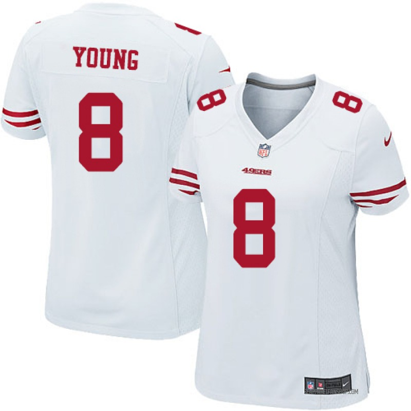 check out bcbc7 88fed Women's Nike San Francisco 49ers Steve Young White Jersey - Game