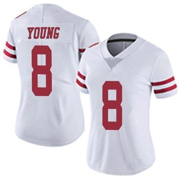 Women's Nike San Francisco 49ers Steve Young White Vapor Untouchable Jersey - Limited