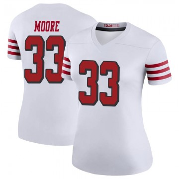 Women's Nike San Francisco 49ers Tarvarius Moore White Color Rush Jersey - Legend