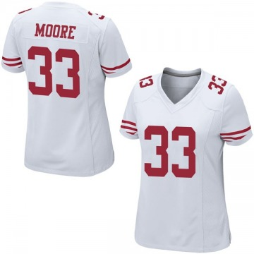 Women's Nike San Francisco 49ers Tarvarius Moore White Jersey - Game