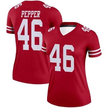 Women's Nike San Francisco 49ers Taybor Pepper Scarlet Jersey - Legend